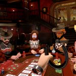 PokerStars VR offers the Showdown Saloon as one of several virtual reality locations where you can play online poker. (Credit: Maxim)
