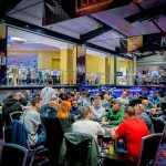 Players compete during one of the eight starting flights of the Colossus tournament at the 2018 World Series of Poker Europe. (Image: Hochgepokert.com)