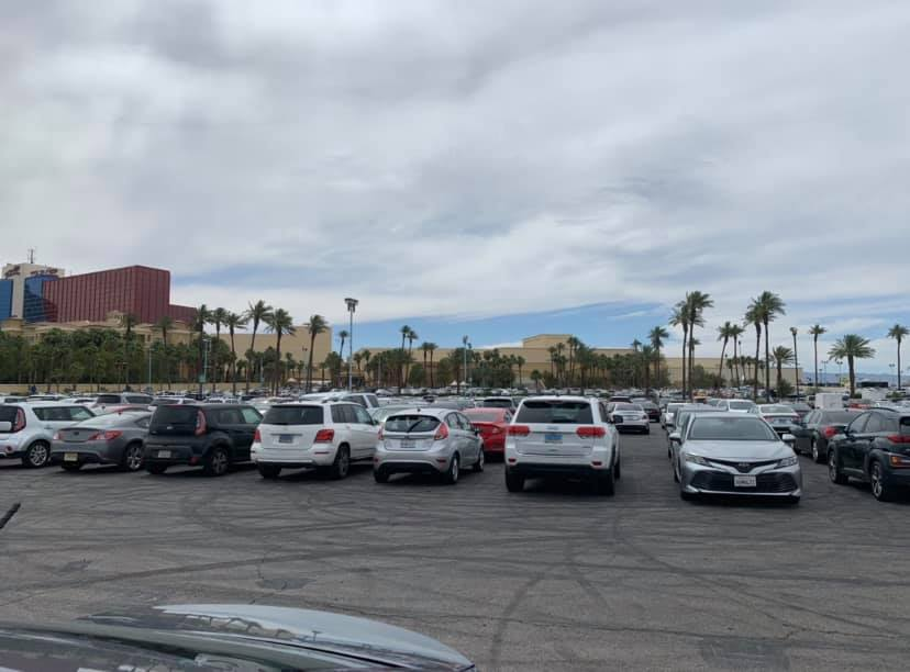 Rio parking lot WSOP