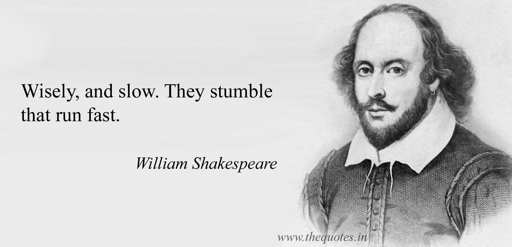 Shakespeare - wisely and slow