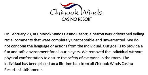 chinook winds statement