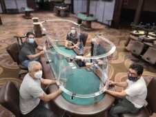 plexiglass poker tables