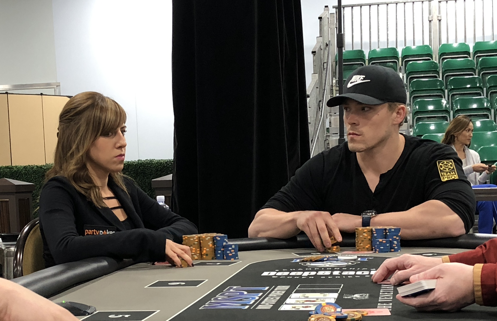 high roller tournament pros Alex Foxen and Kristen Bicknell