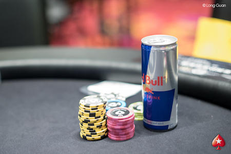 Red Bull at the poker table