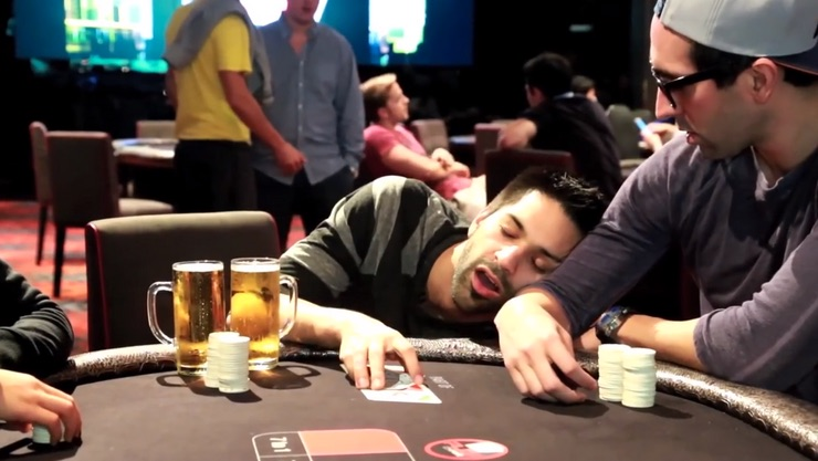 drunk at poker table