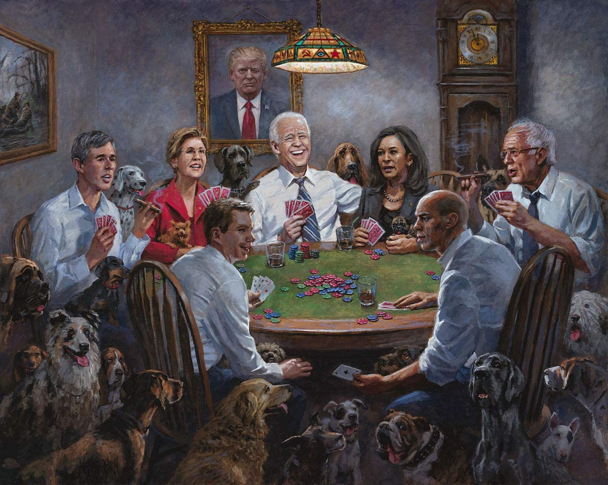 Joe Biden bermain poker