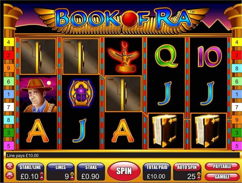online casino games reviews ra book