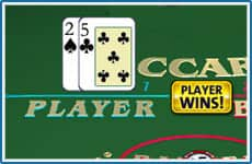 Win real money playing baccarat