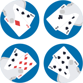 When is a third card dealt in baccarat?