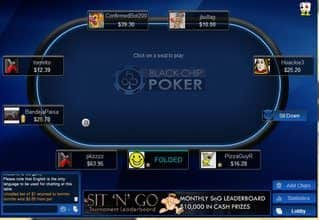 Black Chip Poker Table