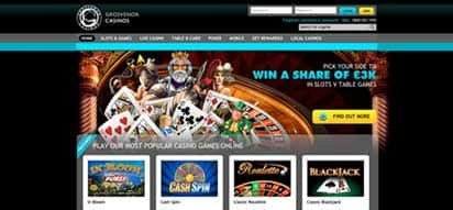 GROSVENOR CASINO GIVES £20 CASH BONUS