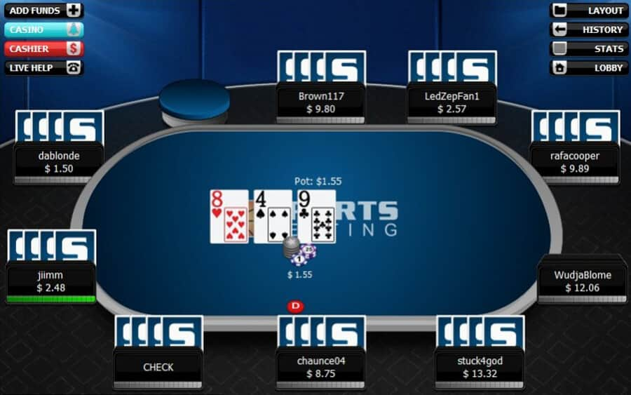 Betting poker sites