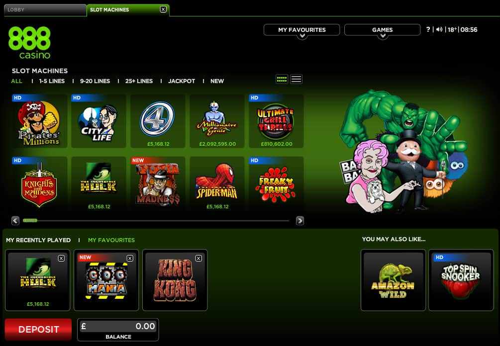 casino online 888 com  games download