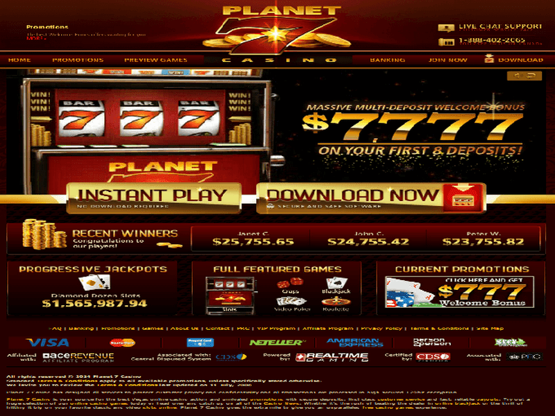 Planet 7 online casino review hoyle casino games 2009 download