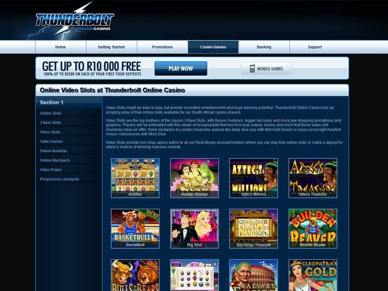 Thunderbolt Casino Review