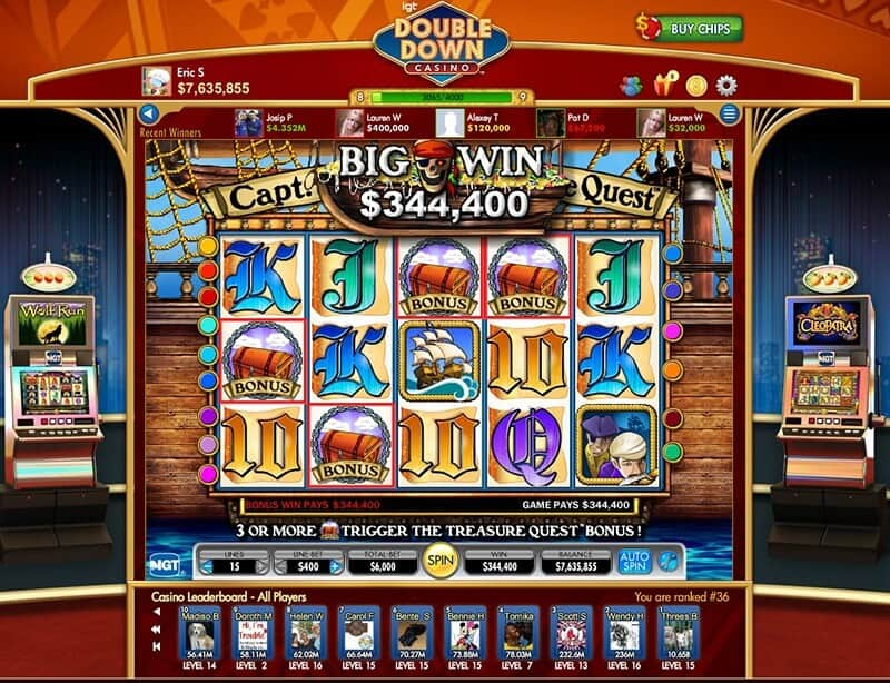 DoubleDown Casino Pirates Game