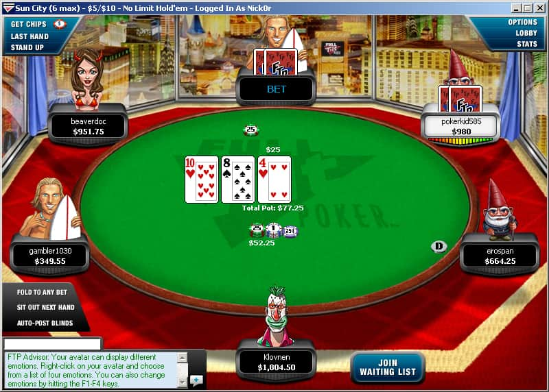 full tilt real money