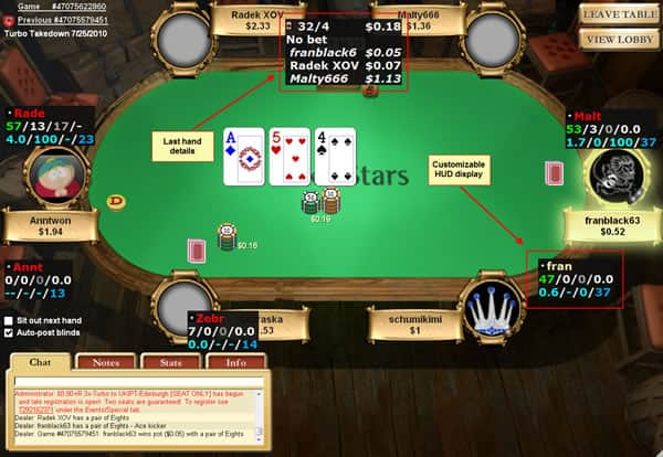 Hold'em Manager HUD Display