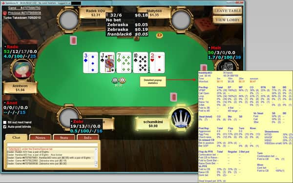 Hold'em Manager Detailed HUD Popup Information