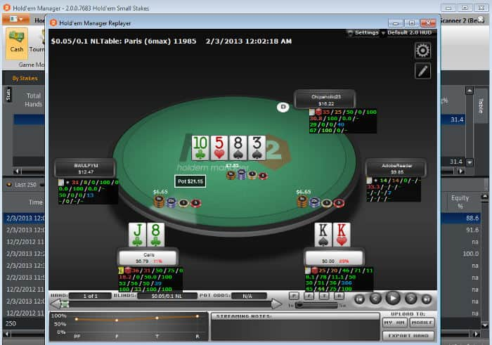 Holdem manager delete hands