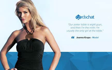 Joanna Krupa poker wallpaper