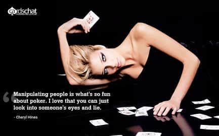 Beautiful girl poker wallpaper