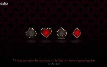 4 poker suits wallpaper